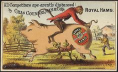 All competitors ape-arently distanced by Chas. Counselman & Co's. Royal Hams. [front] by Boston Public Library, via Flickr