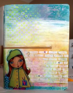Crafty Little Pigtails: More mixed media goodness!!! Art Journal cover part 1...