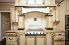 love the cabinets and love a kitchen mantel