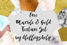 DLOLLEYS HELP: Free Marble & Gold Texture Set