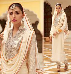 Charming Ivory Pant Kameez Set