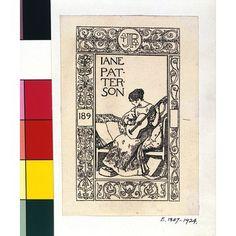 Robert Anning Bell, born 1863 - died 1933 - Bookplate