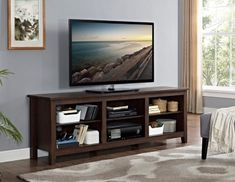 Brown Wood Media Console, 70 in.