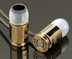 Munitio 9mm Bullet Earbud Headphones