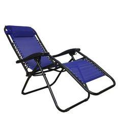 PARTYSAVING Infinity Zero Gravity Outdoor Lounge Patio Pool Folding Reclining Chair APL1062