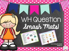 Simply Speech: WH-Question PlayDoh Smash Mats! {Giveaway} Ends 4/29/15. Pinned by SOS Inc. Resources. Follow all our boards at pinterest.com/sostherapy/ for therapy resources.