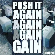 Push it again and again until it becomes a gain ..... .....