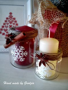 Kuźnia Upominków : ozdoby na Boże Narodzenie Christmas Candles, Christmas Crafts, Christmas Decorations, Table Decorations, Christmas And New Year, Homemade Gifts, Advent, Diy And Crafts, Holiday