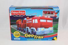 Fisher Price Geo Trax Rapid Rescue Fire Squad Remote Control RC Train Truck New #FisherPrice