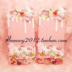 Hello Kitty cream deco phone case