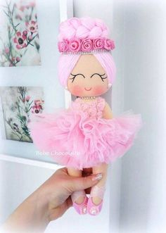 Felt ballerina doll models can be used for door ornament, wall ornament or basket decorations, as a baby gift or felt toy Source by , Doll Crafts, Diy Doll, Sewing Crafts, Ballerina Doll, Felt Fairy, Sewing Dolls, New Dolls, Fairy Dolls, Felt Toys