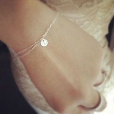 Personalized Bracelet - All 925 Sterling Silver - Sterling Silver Initial Bracelet. Love how simple this is!!!!