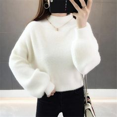 Turtleneck Outfit Casual, Cute Sweater Outfits, Cute Casual Outfits, Stylish Outfits, Girls Fashion Clothes, Teen Fashion Outfits, Cute Fashion, Korean Girl Fashion, Korean Fashion Trends