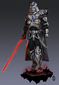 Supreme Commander Vader of the First Galactic Empire: StarWars Star Wars Concept Art, Star Wars Fan Art, Combat Armor, Star Wars Characters Pictures, Star Wars Spaceships, Kings Game, Fantasy Warrior, Fantasy Races, Hyena
