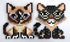 Perler Bead Dog Magnets by kittendrumstick