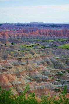 The Badlands . South Dakota