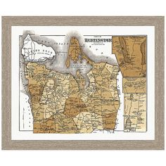 Sourced from a collection of antique maps, historical charts, and bird's eye views, this framed historic map is a gorgeous Giclée reproduction print under glass that will beautifully adorn the home of any travel lover or history buff. Map Wall Decor, Home Decor Wall Art, Room Decor, Wall Décor, Framed Wall Art, Framed Prints, Ny Map, Paper Frames, Antique Maps