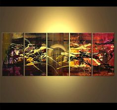 Large Contemporary Painting Modern Art on Canvas by OsnatFineArt