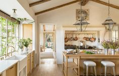 our Kitchen via Veranda.com #patinafarm #giannettihome