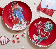 Boy Valentine's Day Plates #PotteryBarnKids