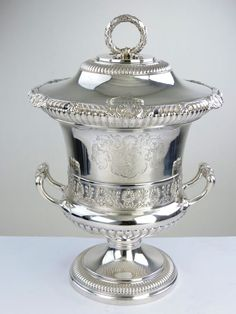 Magnificent Georgian Silver WINE COOLER COVERED CUP, London 1813 by Paul Storr #PaulStorr