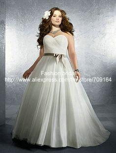 plus size a line wedding dress - Google Search