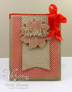 Handmade card by Vickie Zimmer featuring the Autumn Blessings stamp set from Verve. #vervestamps