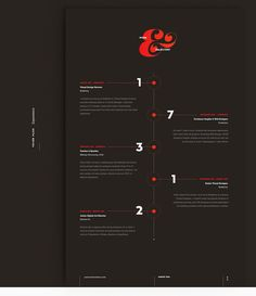 Designer's Striking Résumé Features Bold Typography, Eye-Catching Infographics - DesignTAXI.com