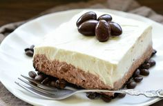 Layered Chocolate Espresso Cheesecake Dessert (No Bake)