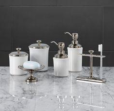 Lugarno Accessories restoration hardware pedestal soap dish in polished nickel  12/15/12 $49