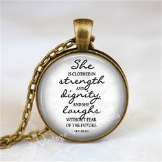 Bible scripture quote necklace. A beautiful reminder of God's calling for women.