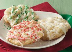 Holiday White Chocolate Macaroon Cookies