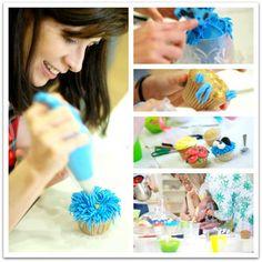 Como decorar cupcakes paso a paso                                                                                                                                                                                 Más