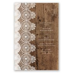 Rustic Barn Wood Lace Wedding Program