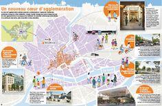 Infographie : un nouveau coeur d'agglomération