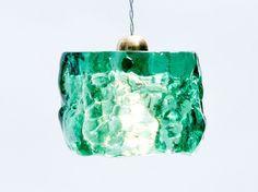 Turquoise Ceiling Pendant Light Barrel / Hand Made / Turquoise Epoxy Barrel