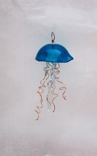 Aquamarine Jellyfish By Dianne Van de Carr by ConfusionArtGlass, $35.00