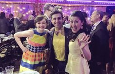 Emily Skeggs, Brandon Uranowitz and Ruthi Ann Miles at a Tony Awards luncheon