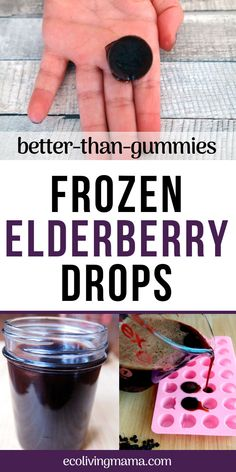 elderberry gummies, frozen elderberry drops come together quickly and can be stored in the freezer for much than their chewy counterpart. Made with homemade elderberry syrup, frozen elderberry drops are bite sized, perfect for kids and so easy to make. Cold Home Remedies, Natural Health Remedies, Herbal Remedies, Natural Cures, Natural Beauty, Cough Remedies For Adults, Elderberry Gummies, Elderberry Syrup Benefits, Natural Remedies