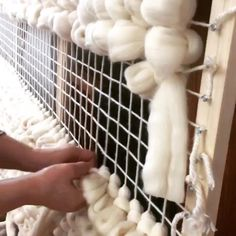 Hand weaving Merino rug, hard work but beautiful result!