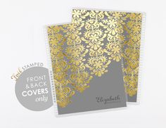 7x9 covers -GOLD EDITION -charcoal
