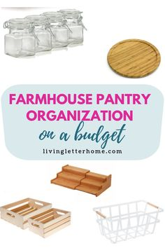 The best budget items for your own farmhouse style pantry organization glassstoragejars Modern Farmhouse Decor, Farmhouse Design, Farmhouse Ideas, Kitchen Organization Pantry, Organized Pantry, Diy Blackout Curtains, Pantry Baskets, Farm House Colors