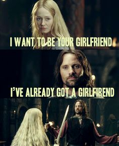 Eowyn has a thing for Aragorn. | Lord of the Rings: Two Towers