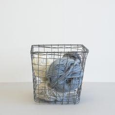 Square Steel Wire Basket - perfect for eggs! Wire Baskets, Steel, Eggs, Bathroom, Washroom, Full Bath, Egg, Bath, Bathrooms