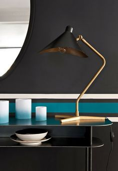 Last year you may remember us featuring the work of interior designer Sarah Lavoine. Home Interior, Interior Styling, Interior Architecture, Interior Decorating, Modern Furniture, Furniture Design, Black Table Lamps, Deco Design, Lamp Design