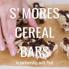 Make this amazing treat! These S'mores Cereal Bars are a perfect snack any time of the day. You'll love how simple the recipe is.