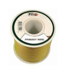 Pico 81202J 20 AWG Yellow Primary Wire 50' per Package by Pico. $5.95. Single Conductor copper stranded primary wire with the highest quality polyvinyl chloride insulation providing the best in flexibility, permanent color and resistance to acids, grease, oil and diesel fumes. Primary wire is manufactured to meet all SAE Type J1128 specifications and will work safely between the operating temperatures of -40°F and 165°F.
