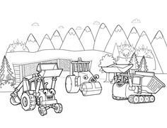 scoop roley muck coloring page bob the builder coloring pages for kids
