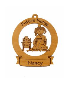 Future Nurse Ornament Personalized with Your by gclasergraphics, $9.95