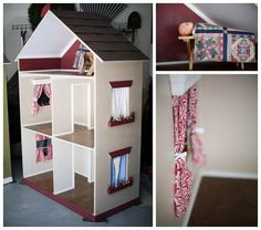 The Alyssa - Handmade Doll House for 18 Inch Dolls (American Girl Dolls).  Cost $750